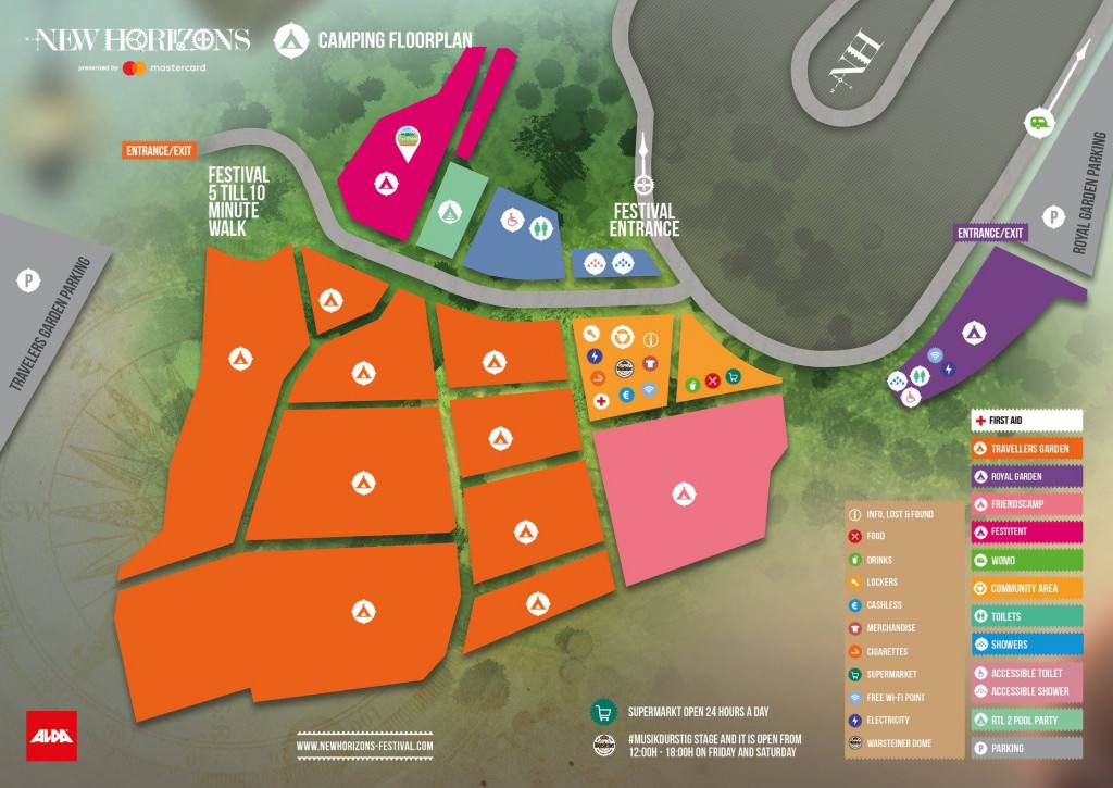 plattegrond new horizons festival camping